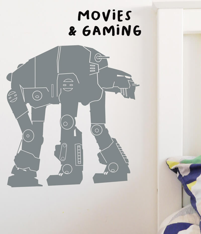 movie and gaming wall decals
