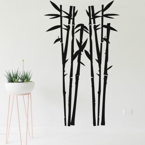 bamboo wall decal black