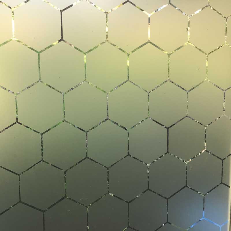 hexagon window privacy frosting