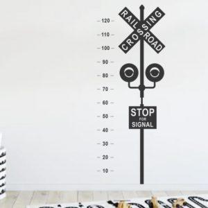Railway Crossing wall decal