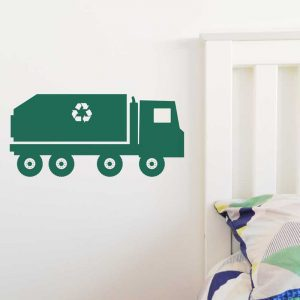 garbage truck wall decal