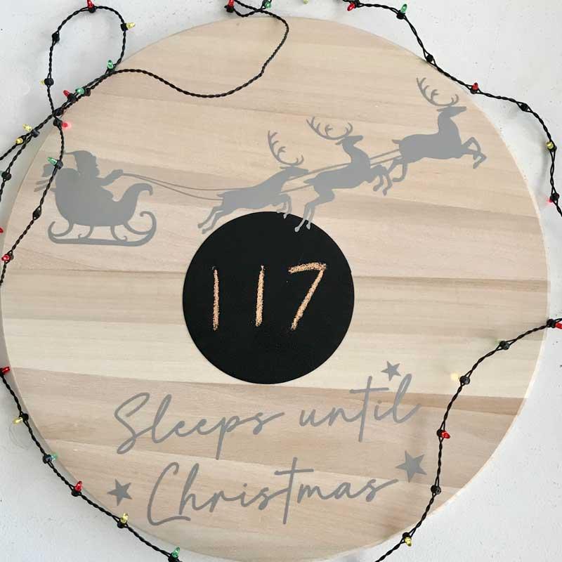 sleeps until christmas sign